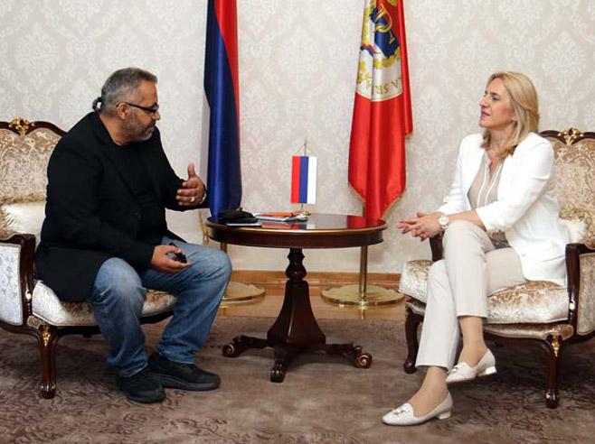 Intervju predsjednice Srpske za Večernji list (Foto: RTRS)