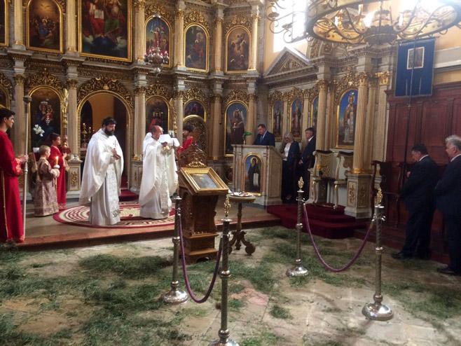 Литургија у цркви у Мађарској (Фото: РТРС)
