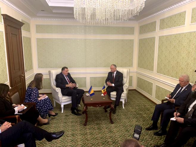 Додик се састао са предсједником Молдавије (Фото: РТРС)