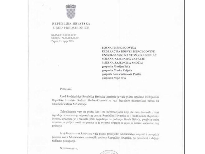 Novi kamen spoticanja - Kitarovićeva poslala pismo BiH, a tema su migranti (Foto: srpskainfo)