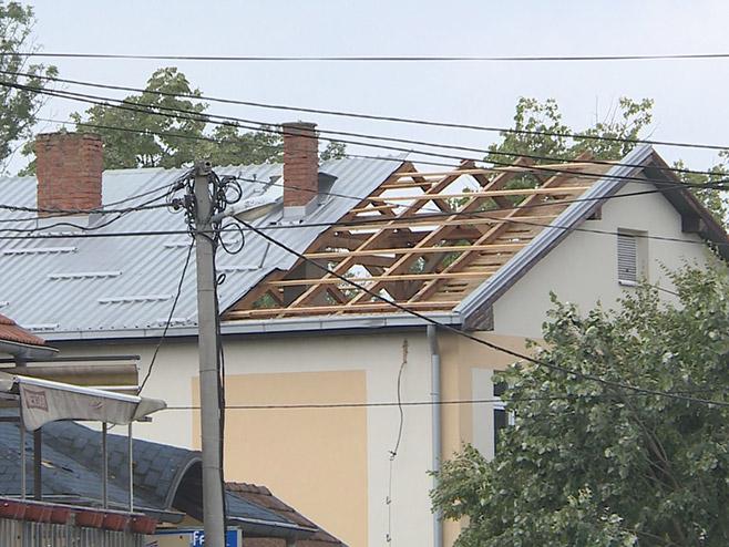 Nevrijeme  u Srpcu (Foto: RTRS)