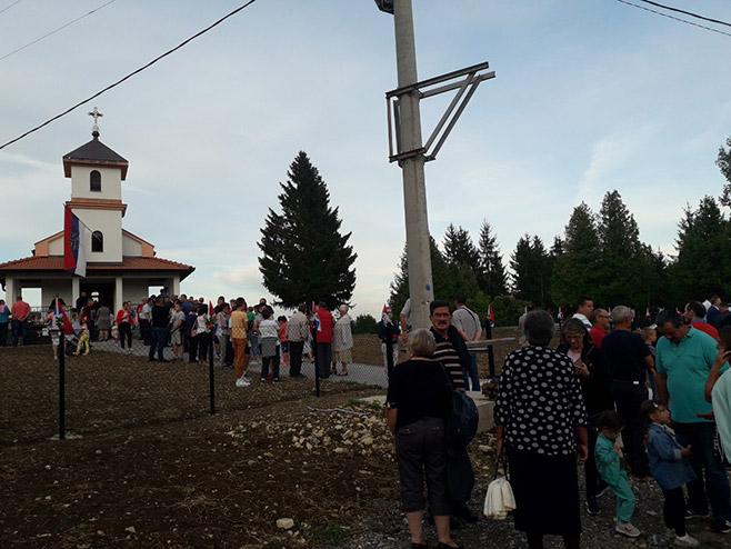 Veliko Palančište kod Prijedora - Crkveno-narodni sabor (Foto: RTRS)
