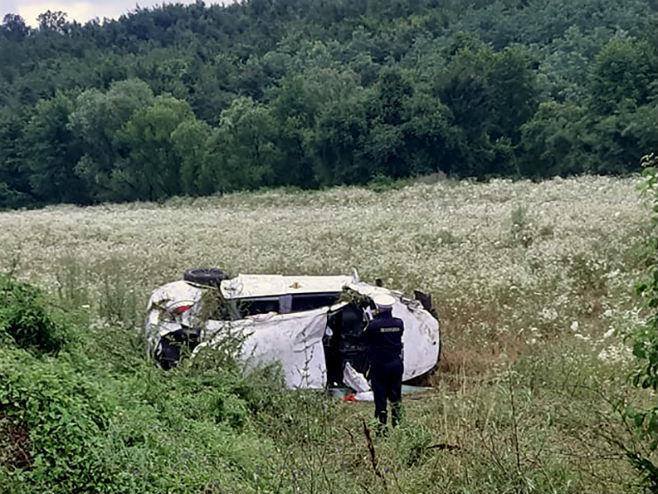 Мјесто несреће (Фото: Prijedordanas/RAS Srbija)