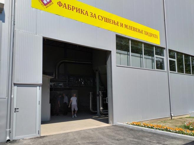Фабрика за сушење и мљевење хидрата, Милићи