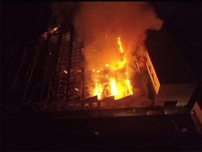 Пожар у кругу Енергоинвеста (Screenshot)