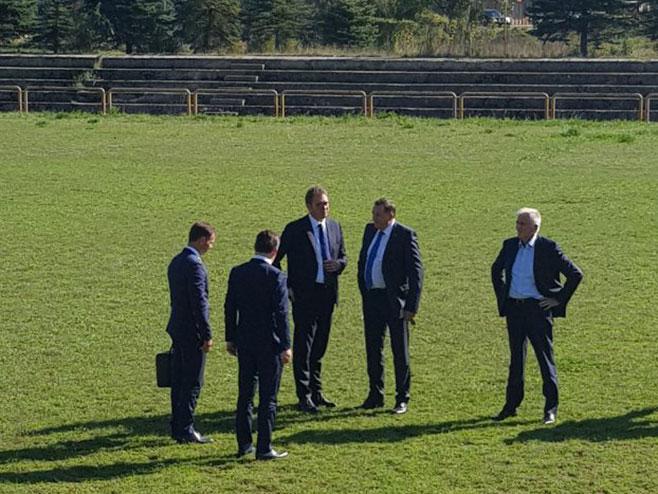 Vučić i Dodik u Drvaru (Foto: RTRS)