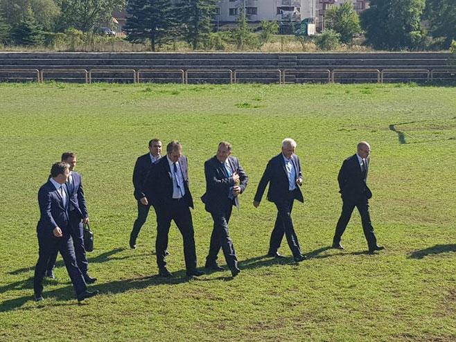 Dodik i Vučić stigli u Drvar (Foto: RTRS)