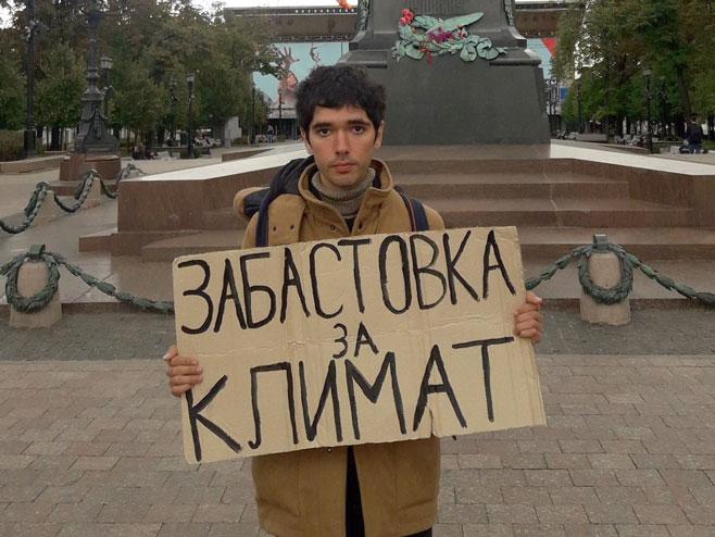 Moskva- prtestuje samo jedan čovjek