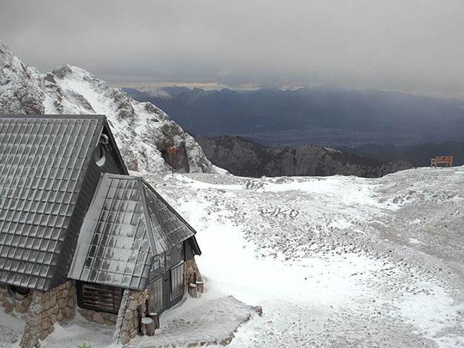 Снијег у Словенији (фото:webcam)