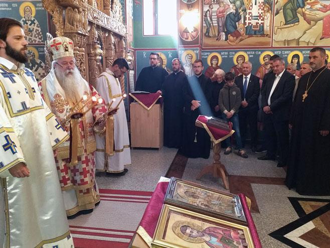 Света архијерејска литургија, храм Светог Николе у Милићима