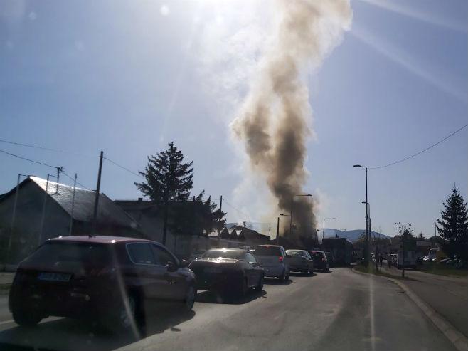 Пожар у Лазареву (Фото: РТРС)