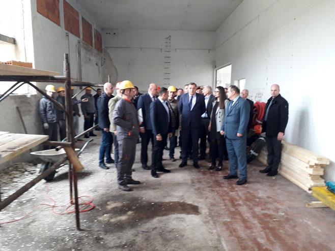 Dodik i Vulin obilaze gradilište (Foto: RTRS)