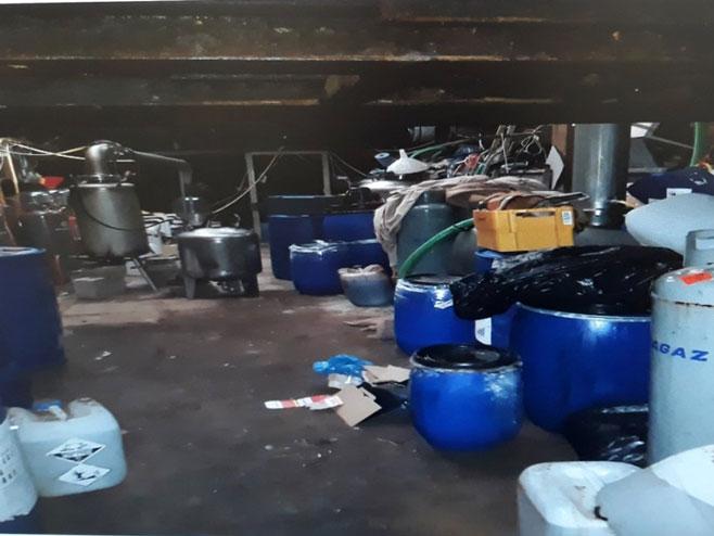 Laboratorija za proizvodnju amfetamina u Holandiji (Foto: RTRS)
