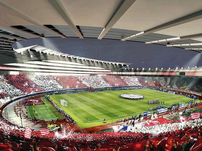 Novi stadion Crvene zvezde (foto:IES/CREW) -