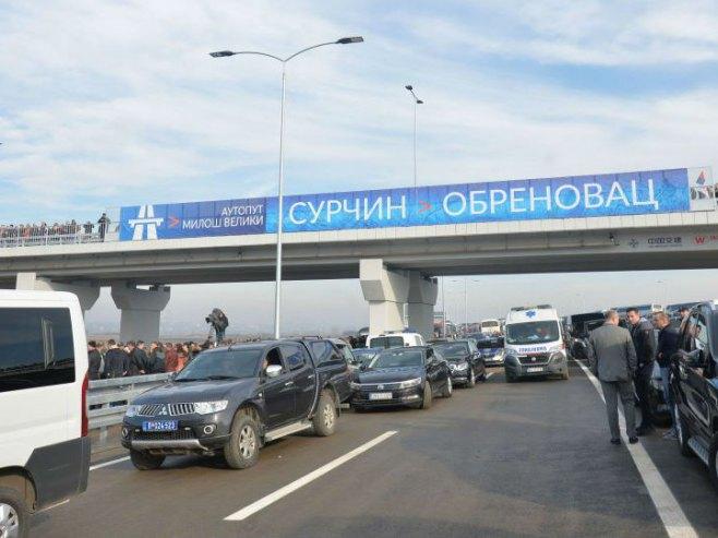 "Дионица ауто-пута ""Милош Велики"" (Фото: Спутник)"