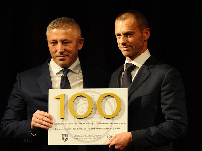 Aleksandar Čeferin i Slaviša Kokeza (foto:fss)