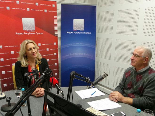 Жељка Цвијановић гост Радија Српске - Фото: РТРС