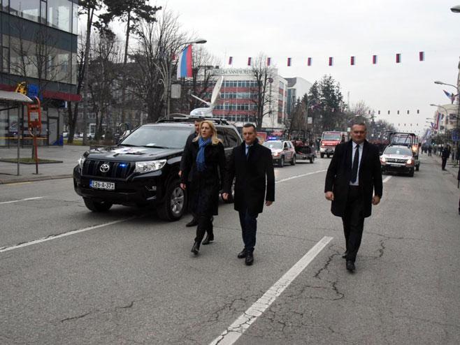 Željka Cvijanović i Dragan Lukač (Foto: SRNA)