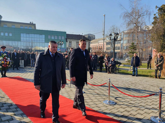 Вишковић и Додик у Брчком (Фото: СРНА)