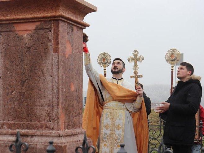 Вуковар: Освећење Богојављенског крста (Фото: Славко Бубало/Спутњик)