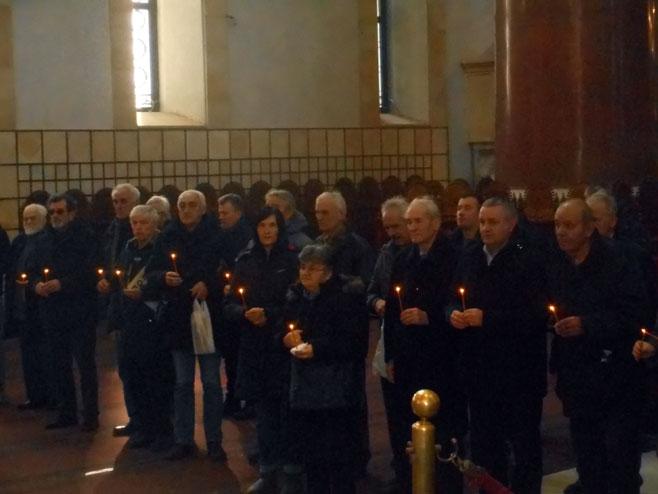 Beograd-Crkva Svetog Marka: parastos za 348 Srba ubijenih u akciji Maslenica - Foto: SRNA