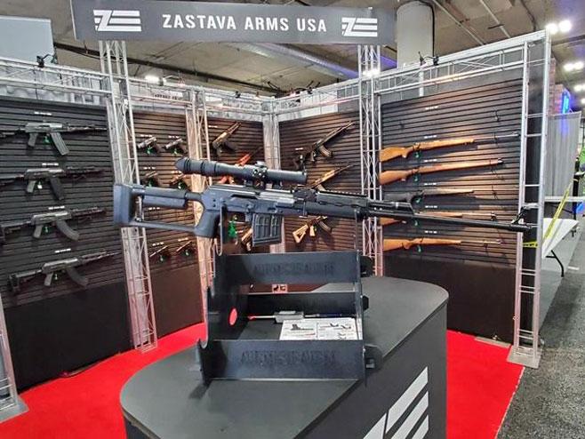 """""""Застава"""" на највећем сајму оружја (Фото:serbiantimes.info)"""