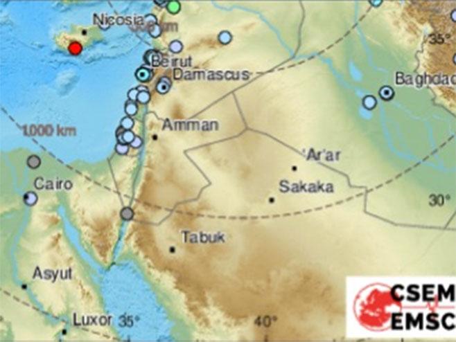 Земљотрес у Турској (Фото: EMSC)