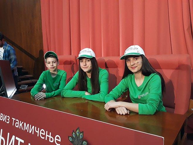 Osnovci iz Bileće (Foto: SRNA)