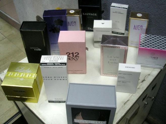 Запљена парфема (фото: Управа царина Србије)