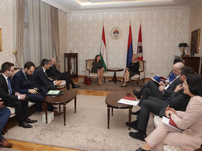 Cvijanović i Novak - sastanak (Foto: RTRS)