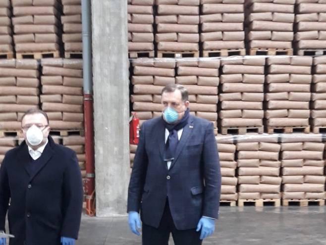 Dodik u Brčkom (Foto: RTRS)