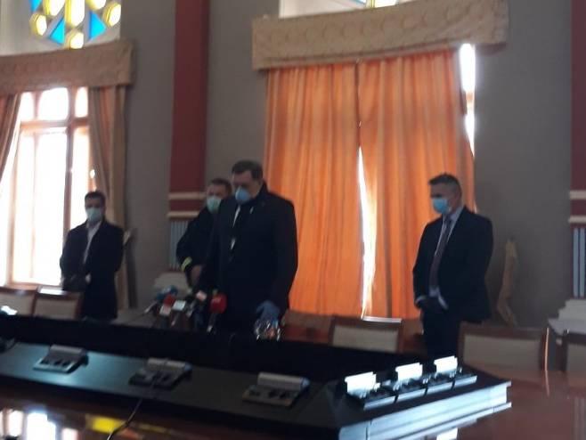 Dodik i Brčkom (Foto: RTRS)