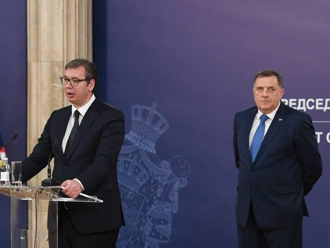 Dodik i Vučić (Foto: Predsjedništvo Srbije/Dimitrije Gol) -