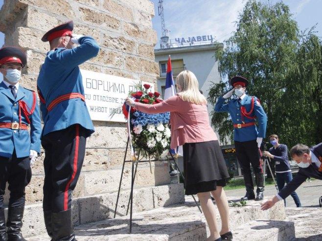 Званичници Српске, полагање вијенаца, Фото: РТРС