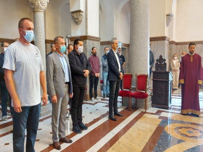 Молитвени помен доктору Миодрагу Лазићу (Фото: СРНА)