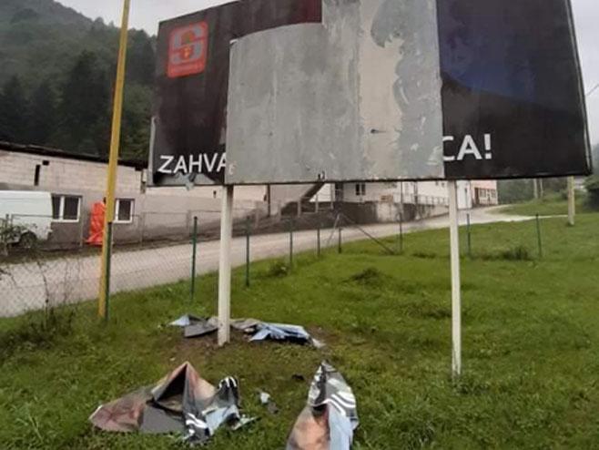 Srebrenica, vandalski čin