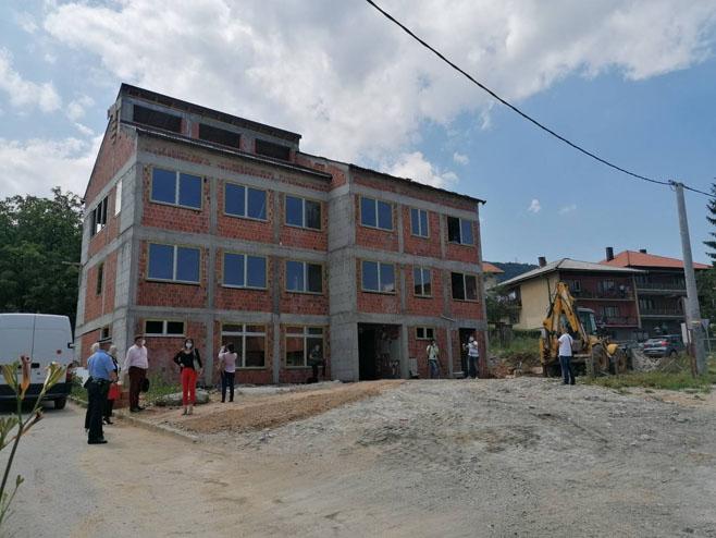 Predsjednica Srpske posjetila policijsku zgradu u izgradnji, Foto: RTRS