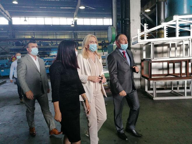 Cvijanović posjetila fabriku Alpro, Foto: RTRS