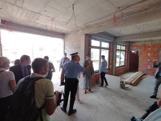 Cvijanović posjetila policijsku zgradu u izgradnji, Foto: RTRS