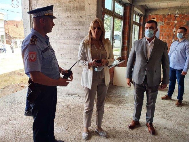 Власеница - Цвијановић и Краљевић посјетили градилиште новог објекта Полицијске станице - Фото: СРНА