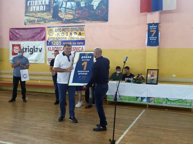 Dodik u Kozarskoj Dubici (Foto: SRNA)