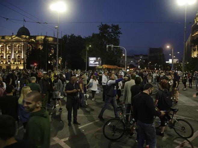 Protesti u Beogradu (foto:TANJUG / NIKOLA ANDJIC)