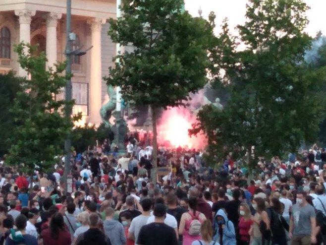 Протести у Београду (Фото:  РТРС)