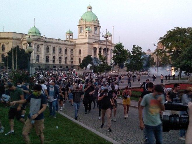 Protesti u Beogradu (Foto: RTRS)
