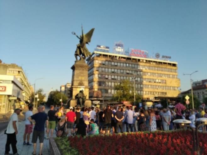 Протест у Крушевцу, Фото: РТС