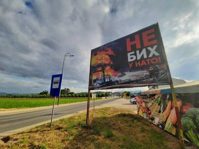 Билборд у Источном Сарајеву (Фото: РТРС)