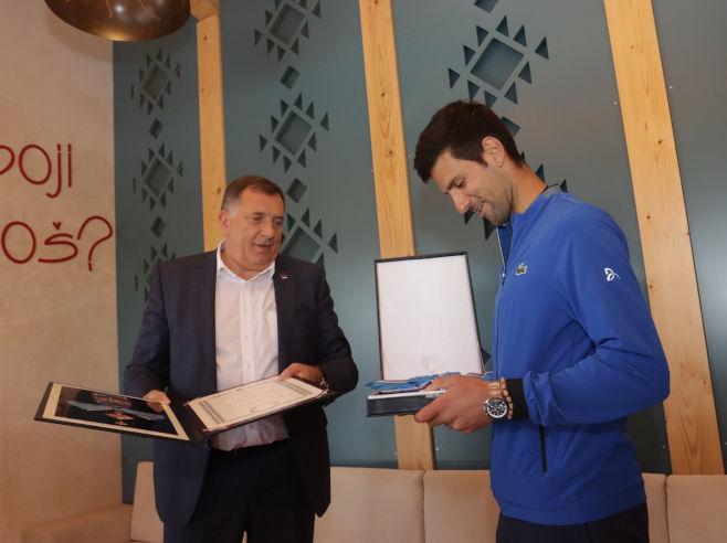 Dodik i Đoković (Foto: SRNA)