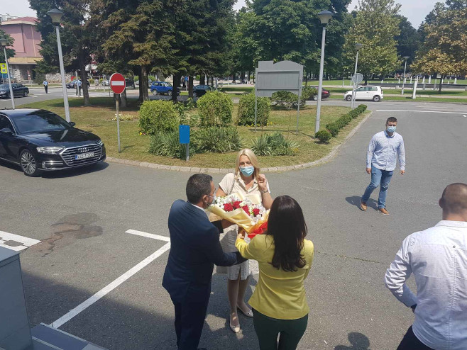Cvijanović u Doboju, Foto: RTRS