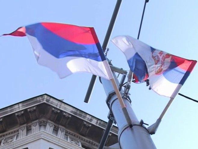 Zastave Srpske i Srbije - Foto: RTRS