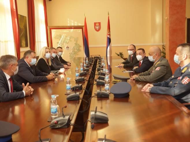 Sastanak rukovodstva Srpske sa Vulinom (Foto: RTRS)